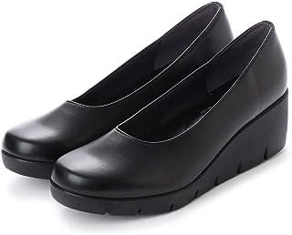 [ITALICO] (ブラック) ファーストコンタクト 厚底パンプス 日本製 痛くない 母の日 ウェッジパンプス コンフォートシューズ 走れるパンプス FIRST CONTACT 美脚