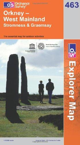 OS Explorer map 463 : Orkney - West Mainland