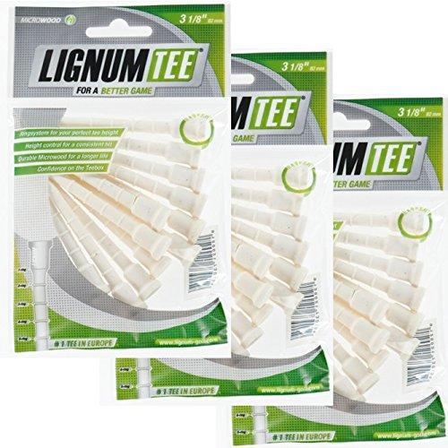 Lignum Tees 3 Beutel a 12 Stück 82 mm lang (36 Tees)