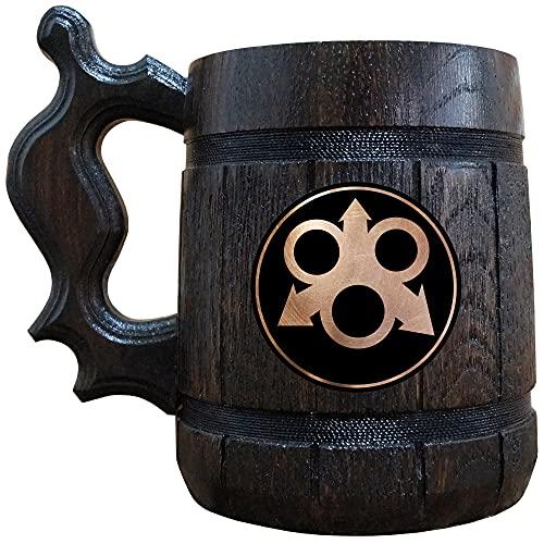 Nurgle Beer Mug, Warhammer Wooden Beer Stein, Gamer Gift, Personalized Beer Stein, Warhammer 40K Tankard, Custom Gift for Men, Gift for Him