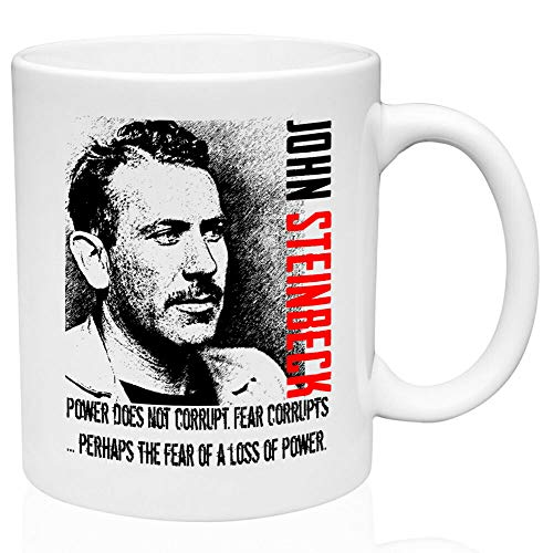 Taza de café divertida de John Steinbeck de cerámica de alta calidad, 325 ml, taza de café o té