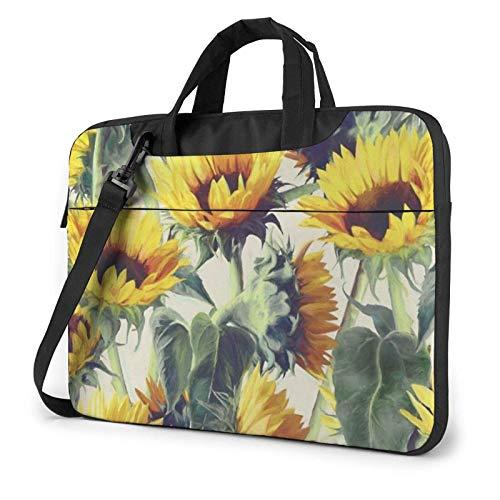 Sunflower Laptop Bag Messenger Bag Briefcase Satchel Shoulder Crossbody Sling Working Bag 14 Inch