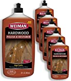 floor polish wood - Weiman Wood Floor Polish and Restorer (6 Pack) 32 Ounce - High-Traffic Hardwood Floor, Natural Shine, Removes Scratches, Leaves Protective Layer - Packaging May Vary