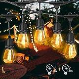 Lichterkette Außen, FOCHEA LED Lichterkette Glühbirnen 15M IP65 Wasserdicht Lichterkette Garten mit 17 x 2W LED-Glühbirnen für Hochzeit Party...