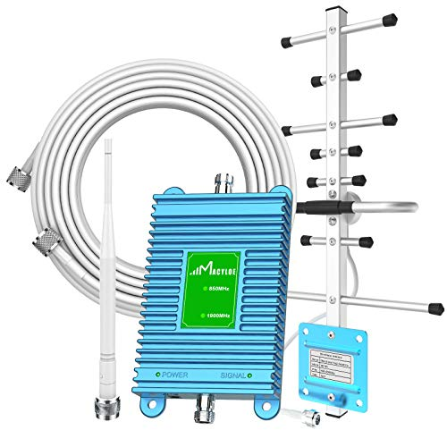 AT&T Signal Booster for Cell Phone GSM 2G/3G/4G LTE 850/1900Mhz Band 2/5/25 Antenna Amplifier Signal Booster Cover up to 3,000 Sq. Ft 4G Signal Booster Verizon Cellular Signal Booster for Home