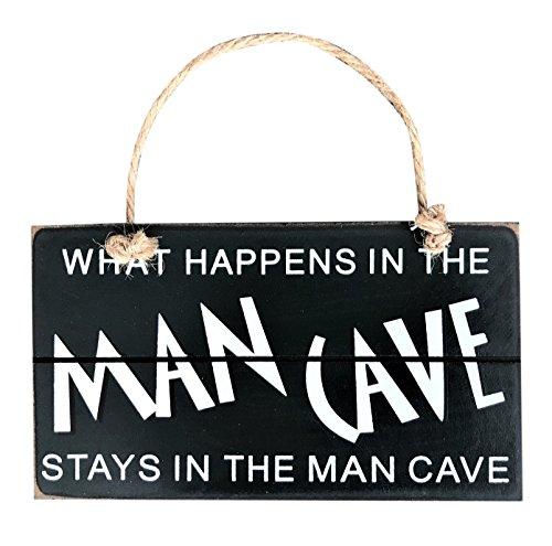 Panneau Man Cave à suspendre Coffret cadeau pour homme plaque Bar Pub Drôles les plaques de portes Abri de jardin Garage