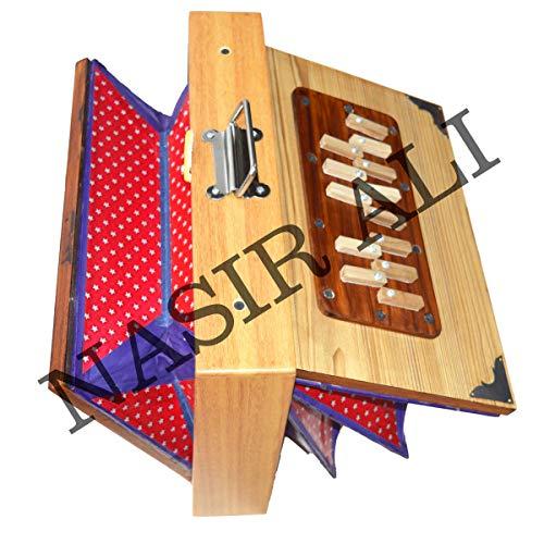 INDISCHE INSTRUMENTE, Shruti Box, groß (14 x 11 x 2,5) Zoll, Surpeti Surpeti, mit Tasche, GELBE FARBE, indisches Musikinstrument