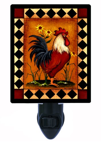 Country Kitchen Night Light, Red Rooster