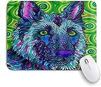 KAPANOU マウスパッド、ジャーマンシェパード犬抽象動物 おしゃれ 耐久性が良い 滑り止めゴム底 ゲーミングなど適用 マウス 用ノートブックコンピュータマウスマット