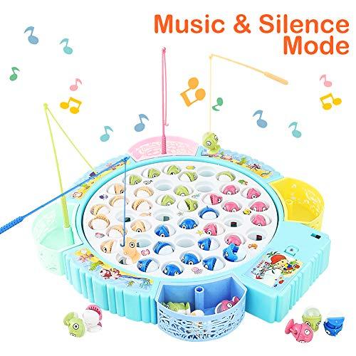 Fische Angeln Spiel Angelspiel Fisch Spielzeug Musik Kinderspielzeug Brettspiel Pädagogisches Spielzeug ab 3 4 5 6 Jahren Junge Mädchen