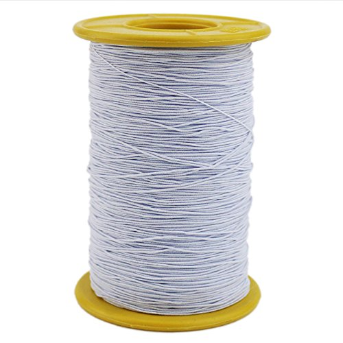 Ogrmar Elastic Thread 547 Yard 0.5mm Thickness (1 Roll) (White)