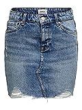 Only onlSKY REG DNM Skirt BB PIM992 Noos Falda, Mezclilla De Color Azul Claro, Talla del Fabricante: 34 para Mujer