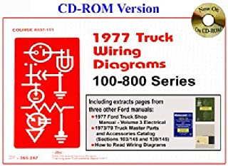 1977 FORD TRUCKS, PICKUPS & VANS WIRING DIAGRAMS - Covers F100_F150_F250_F350_F400_F500, F100 thur F800 series, Bronco, Econoline_B_E_C_CT_CL_CLT_L_LN_LNT_LT_LTS_W_WT & more