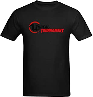 Seedit Men's Unreal Tournament Red And Black Logo Image Printed T-Shirt US Size L