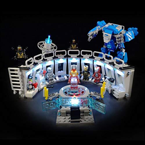 OATop LED Beleuchtungsset für Lego Heroes Iron Mans Werkstatt, Bunt Licht Set Kompatibel mit Lego 76125 - Ohne Lego Set