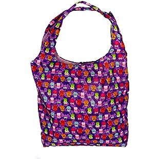 Foldable Reusable Grocery Bags Eco-Friendly Shopping Bag fits in Pocket (YB-04-purple):Tourlombok-piranti