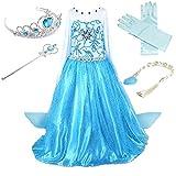 Prinzessin Kostüm Kinder Glanz Kleid Mädchen Weihnachten Verkleidung Karneval Party Halloween Fest...