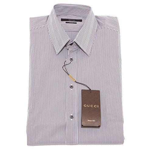 Gucci 4780O Camicia Manica Lunga Classic camicie Uomo Shirt Men [44 (17 1/2)]