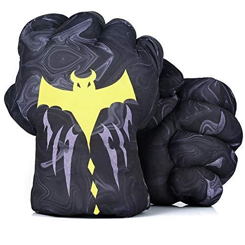 DDGOJUME Guantes de felpa, 1 par de guantes de boxeo suaves con capa de murciélago, disfraz para niños y adultos (gris)