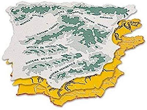 CSP 152218 - Pack de 3 plantillas con diseño mapa España, 22 x 18 cm
