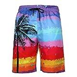 JURTEE Bañador Playa Hombre Corto Verano Tallas Grandes Moda Casuales 3D Impreso Pantalones Cortos De Playa Traje De Baño con Cordones