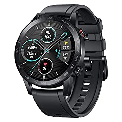 HONOR Magic Watch 2 (46mm, Charcoal Black) 14-Days Battery, SpO2, BT Calling & Music Playback, AMOLED Touch Screen, Personalized Watch Faces, 15 Workout Modes, Sleep & HR Monitor, Smart Assistant,Huawei,Minos-B19S