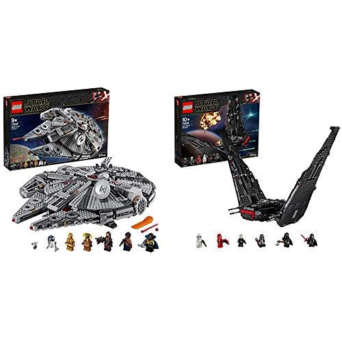 LEGO Star Wars TM - Halcón Milenario, Juguete de Construcción de Nave Espacial, Incluye Minifiguras de Finn, Chewbacca + Star Wars TM - Lanzadera de Kylo REN, Set de Construcción de Nave Espacial