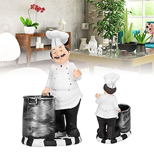 BOTEGRA Figurina dello Chef, Decorazione del Desktop Aspetto Realistico Forte per Soggiorno per Sala...