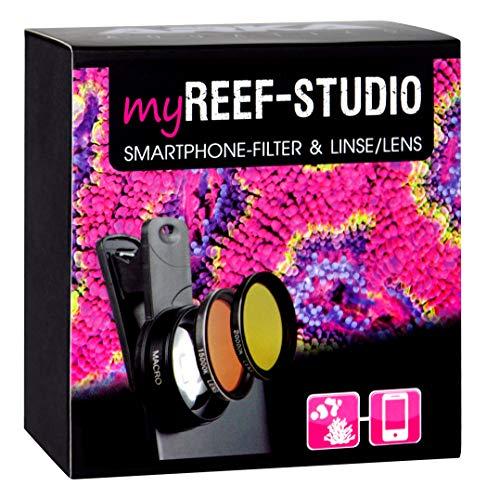 ARKA Aquatics MyReef Studio - Filtro per Smartphone e Lente Macro per Foto Colorate e ricche di Dettagli del Vostro Acquario, Taglia Unica