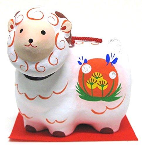 Japanese-made luck 2015 New Year decorations , Fukushima Prefecture Aizu papier-macheµ•ŸNot papier-mache swing sheep (medium )