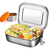 Lunch box in acciaio inossidabile con tazza per immersione - Bento box 1400 ml con parete ...