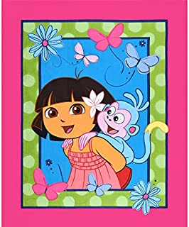 NEW Dora The Explorer & Boots 100% cotton Fabric by the panel 43