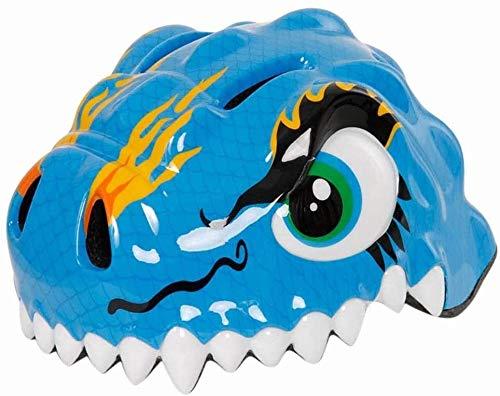 Niñas Niños 49-54cm del casco casco de la bici, niños/bebé dinosaurio Casco, Casco de rodillo regulable eternal (Color : Blue)