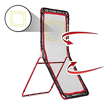 Rukket 4x7ft Lacrosse Rebounder Pitchback Training Screen   Practice Catching Throwing and Shooting