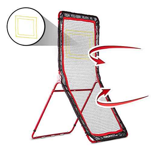 Rukket 4x7ft Lacrosse Rebounder Pitchback Training Screen | Practice Catching, Throwing, and...