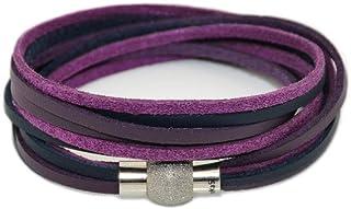 kOmMa5® Braccialetto Design doppiamente avvolto in ecopelle fine con chiusura magnetica in acciaio inossidabile. Per donna...