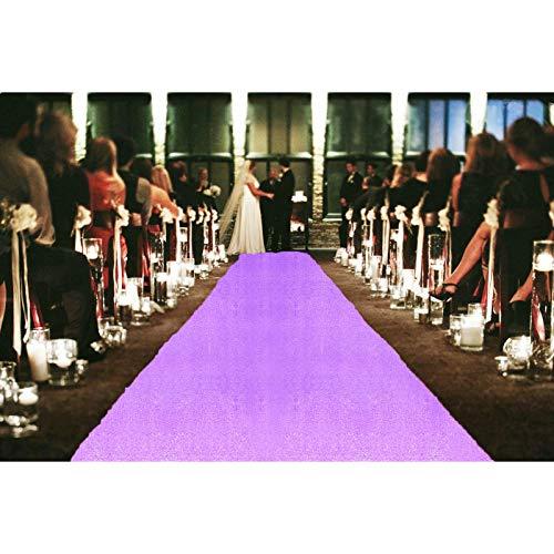 Aisle Runners for Weddings Lavender 2FTx15FT Sequin Aisle Runner Light Purple Bridal Aisle Runner 15FT Carpet Runner Outdoor Aisle Runner for Wedding Ceremony