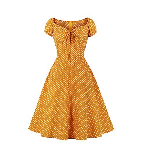 Donna Pois Abito Audrey Hepbun retrò Elegante Abbottonare Vestito Rockabilly Cocktail Anni'50 Swing 1950s Partito Vestiti