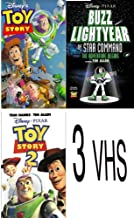 walt disney's pack 3 vhs: Buzz Lightyear of Star Command: The Adventure Begins, Toy Story 2 (1999), Toy Story (1995)