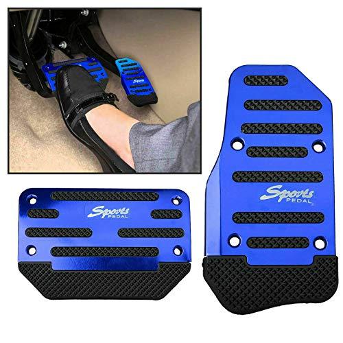 Copri pedaliera universale per auto Racing Sport antiscivolo Copri pedali freno a gas per auto automatico (blu)