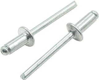 Rivet: Aluminum Alloy Mandrel: Low Carbon Steel Black Phosphate Finish Blind 1641-0514 Large Flange Multi-Grip Rivet Pack of 500 Diameter 5//32 Avdel AVEX Breakstem Grip Range: 125-.312