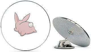 BRK Studio Adorable Silly Kawaii Bunny Rabbit Hare Cartoon Round Metal 0.75
