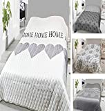 Leonado Vicenti Bettüberwurf 140x210 oder 240x220 Tagesdecke Sofaüberwurf Allzweckdecke wattiert & gesteppt wählbar in modernen Motiven