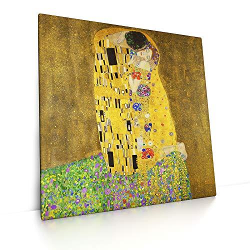 CanvasArts Der Kuss - Gustav Klimt - Leinwandbild (50 x 50 cm, Leinwand auf Keilrahmen)