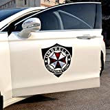 YSpring Resident Evil Shield Shape Hood Decals Umbrella Corporation Car Doors Sticker Auto Body Vinyl Sticker for Vehicles (Style Q-Black)