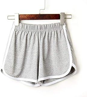 2018 Women Elastic Waist Short Pant Lady Summer Sport Shorts Beach Short Pants Soft Cotton All-Match Loos Short Femme :, L, United States