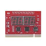 Placa base PCI, probador PCI para placa base con pantalla LED, 4 dígitos, análisis de diagnóstico, prueba de vibración, para ordenador portátil