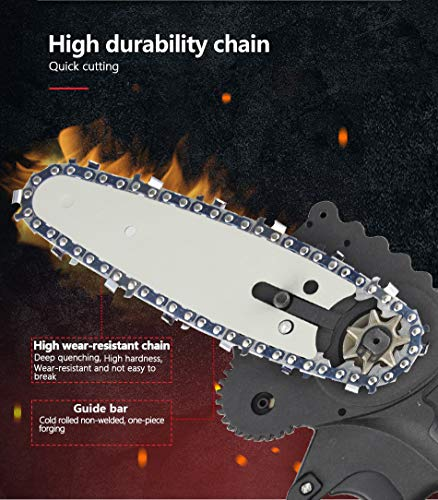 FDJ 3PCS Mini Chainsaw Chain 4-Inch Guide Saw Chain for Cordless Electric Protable Battery Handheld Chain Saw