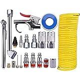 CFDYKRP 20 unids/Set Kit de Limpieza de Plumero Accesorios de Piezas neumáticas Bomba de Aire Airbrush Herramienta de Aire Polvo Compresor de Polvo Boquilla de soplado Accesorio