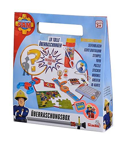 Simba 109251084 Feuerwehrmann Sam Überraschungsbox, 10-TLG